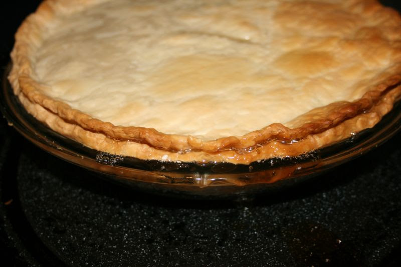 Gooseberry Pie bubbling