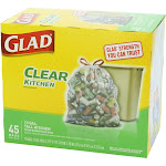 Glad Tall Kitchen Bags, Clear Drawstring, 13 Gal - 45 bags
