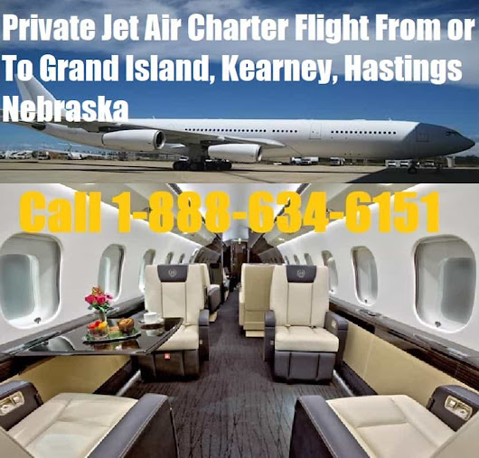 Private Jet Air Charter Flight From-To Grand Island, Kearney, Hastings NE