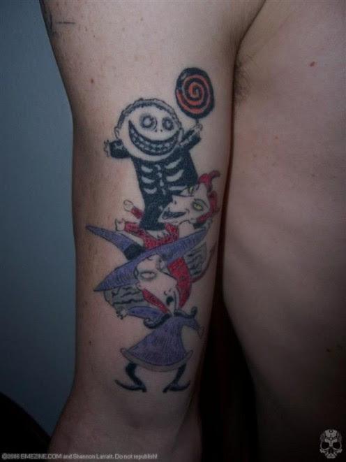 nightmare before christmas tattoo designs
