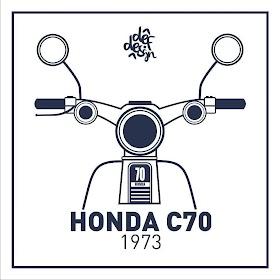 Sketsa Motor Honda C70