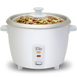 EMG ERC003 Maximatic 6 Cup Rice Cooker with Glass Lid White