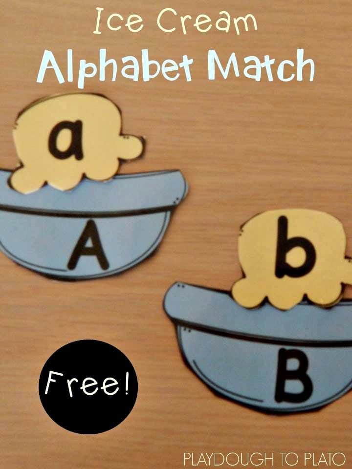 Free Ice Cream Alphabet Game - The Kindergarten Connection