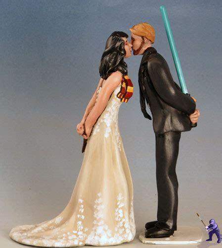 Geek Wedding Cake Toppers ? Garden Ninja Studios