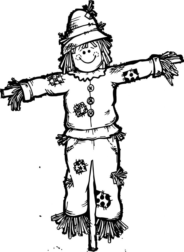 Fall Scarecrow Coloring Page | Wecoloringpage.com