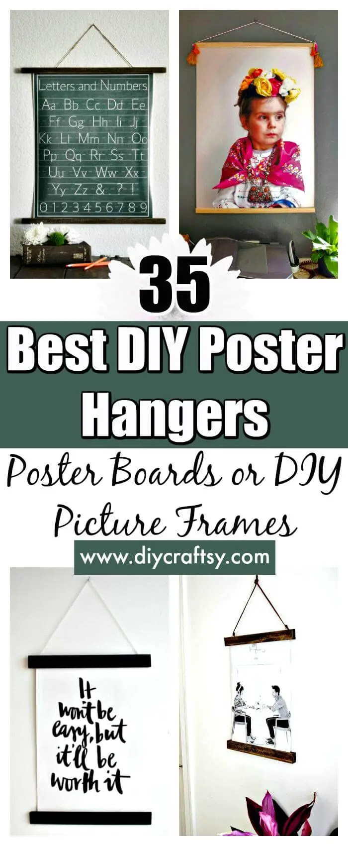 35 Best DIY Poster Hangers / Poster Boards or DIY Picture ...