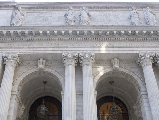 Detail at the New York Public Library