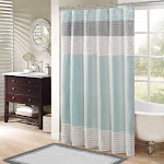 Buy Amherst Faux Silk Shower Curtain at easyhomelinks Teal / 72 L x 72 W