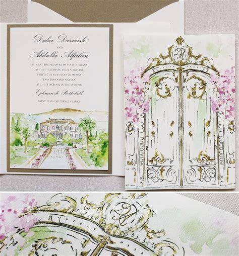 Dahlia D.   Wrought Iron Gate Wedding InvitationMomental