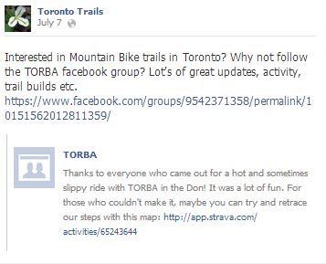 mountain biking toronto torba