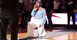 National Anthem Singer Takes A Knee Before Brooklyn Nets Home Opener | HuffPost
