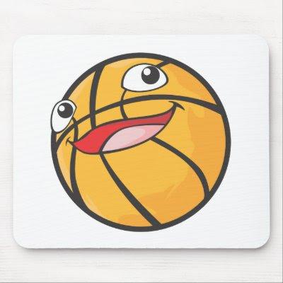 basketball ball cartoon. Happy Basketball Sports Ball