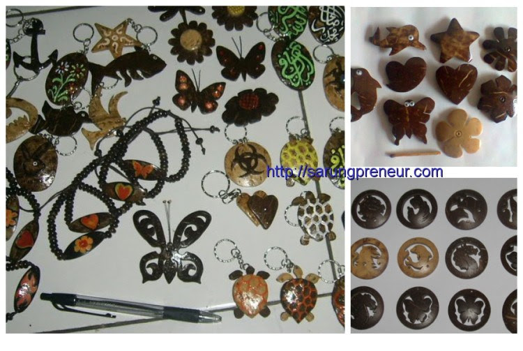 Coconut Shell Handicraft Form Accessories