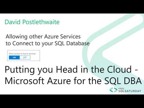 Allowing Azure Service to Connect to your Azure SQL server.