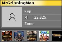 MrGrinningMan's Gamercard