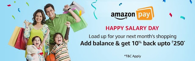 Load Amazon Pay balance and get 10% cashback