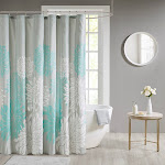 Buy Maible Printed Floral Shower Curtain at easyhomelinks Teal