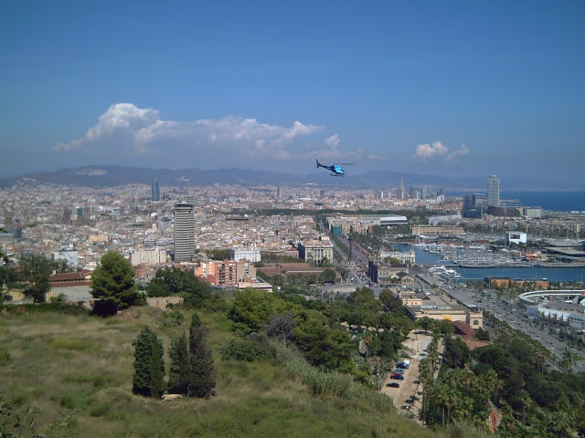Panoramic view of Barcelona from Montjuic