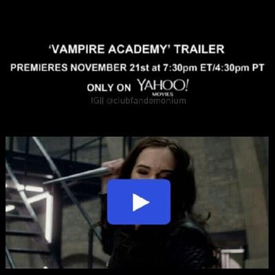 New @officialvamovie trailer Nov 21 on @yahoomovies #VampireAcademy #RoseHathaway #DimitriBelikov #LissaDragomir #VasilisaDragomir #ChristianOzera #AdrianIvashkov #StVladimirs #BloodSisters #Frostbite #ShadowKiss #BloodPromise #SpiritBound #LastSacrifice #Dhampir #Moroi #Strigoi #RichelleMead #ZoeyDeutch #DanilaKozlovsky #LucyFry #DominicSherwood  #Kirova #VA #VAmovie
