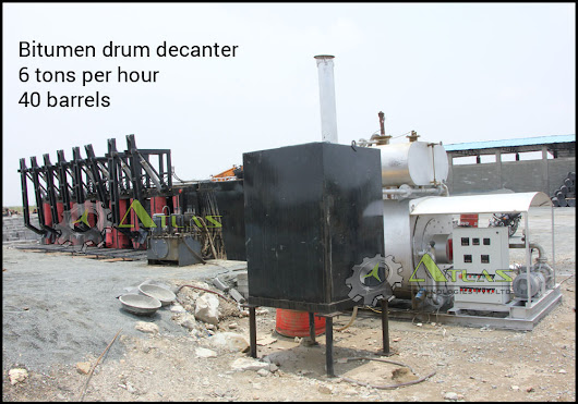 Bitumen drum decanter - melter manufacturer, India