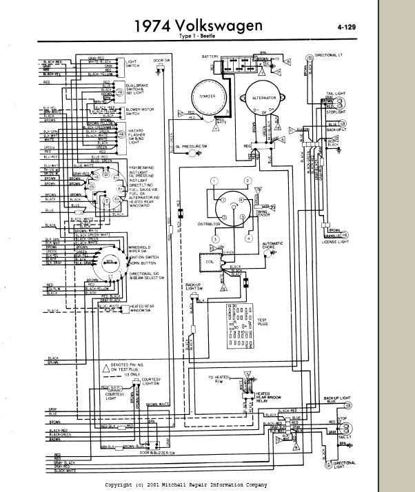 1974 Vw Bug Wiring Wiring Diagram Dedicated Dedicated Pasticceriagele It