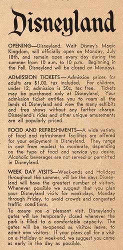 Happy Birthday Disneyland - 53 Years Ago Today....