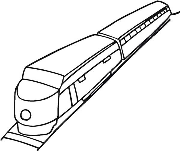 How to Draw a Train Coloring Page