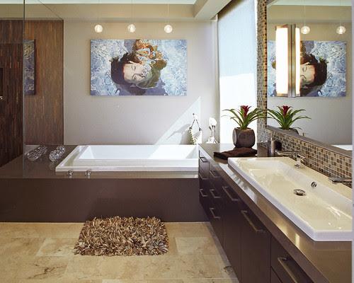 Organic Inspirations contemporary bathroom
