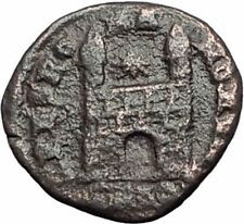 MAGNUS MAXIUMS 383AD Authentic Ancient Roman Coin LEGIONARY CAMP GATE i65061
