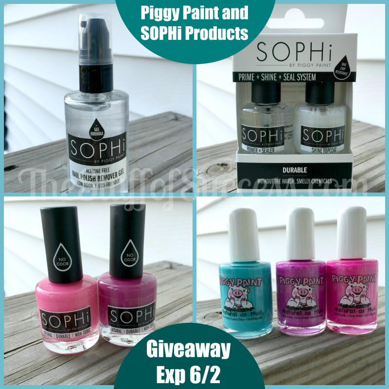 Piggy Paint and SOPHi Products Giveaway Exp 060215