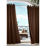 Outdoor Decor Gazebo Grommet Outdoor Curtain Panel Chocolate
