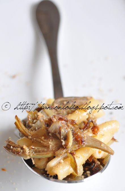 pasta ai carciofi con farina di nocciole