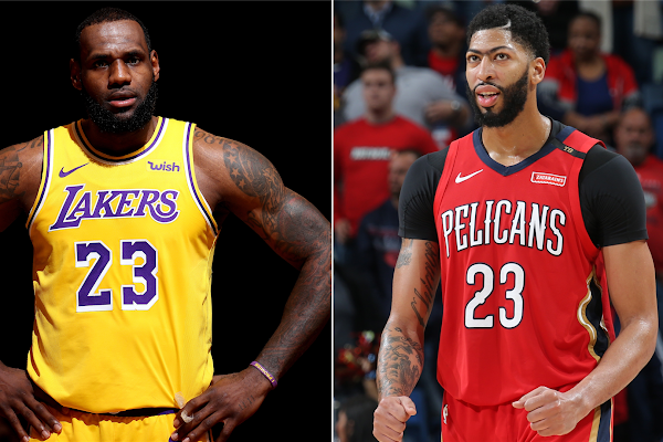 7659a3f07ea LeBron James on Lakers  trading for Anthony Davis   That would be amazing