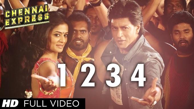 One Two Three Four Chennai Express Full Song   Shahrukh Khan, Deepika Padukone - Vishal Dadlani, Hamsika Iyer Lyrics in hindi