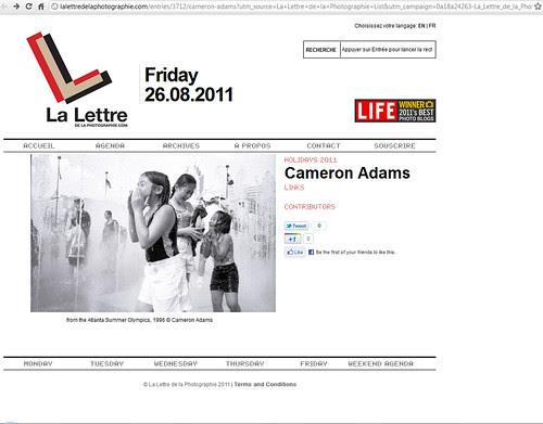 Cameron Adams  La Lettre de la Photographie - Google Chrome 8262011 75319 AM.bmp