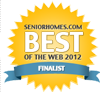 Alzheimer's dad is a finalist in the seniorhomes.com best of the web 2012.