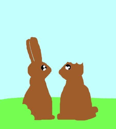 Chocolate Easter Bunnies Fun! Free Fun eCards, Greeting