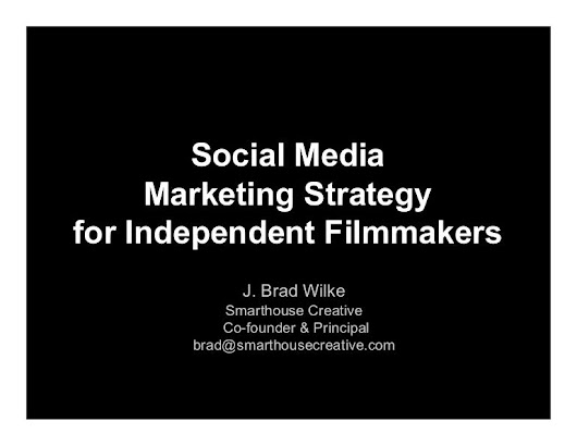 Social Media Marketing Strategy for Independent Filmmakers