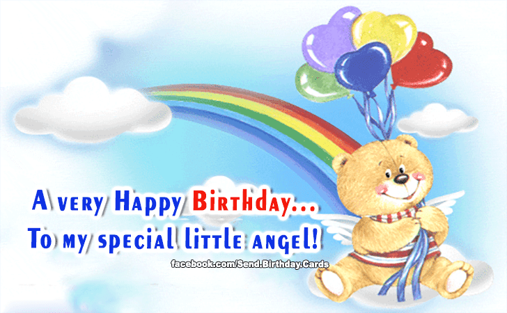 To My Special Little Angel Birthday Cards Happy Birthday Images