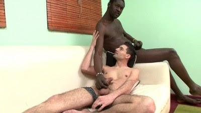 Black studs stroking their dick