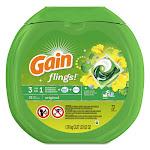 Tide 86792EA 0.06 oz Flings Laundry Detergent Pods Original Scent - 72 per Container