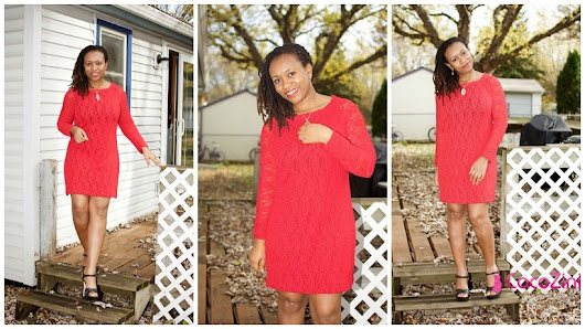DIY Knit Lace Red Dress – NL6230 – It's My Birthday !!