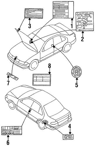 22304-4M000   Vacuum Diagram for 1998 Nissan Sentra ...