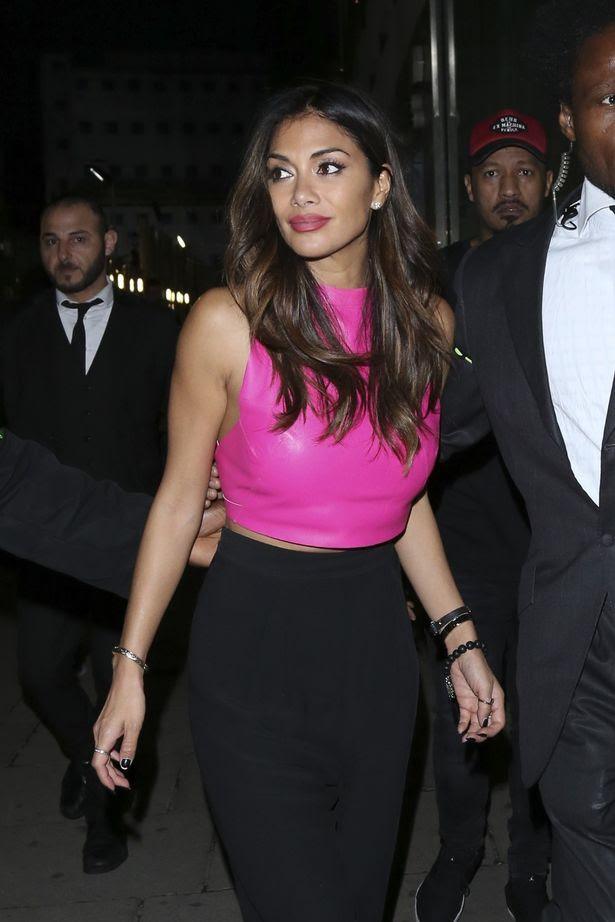 Nicole Scherzinger seen leaving Restaurant 34 in Mayfair