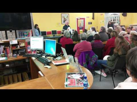 Reading my poetry in Clondalkin library December 2016