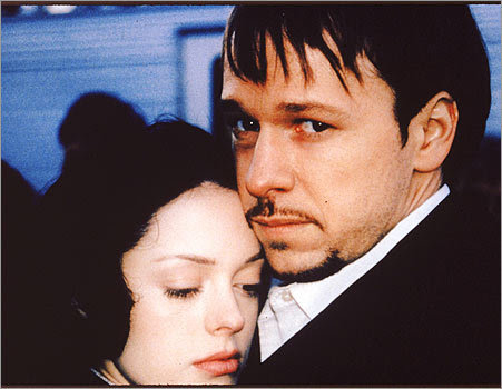 Wahlberg played bad boy Danny Quinn from South Boston (where else?) in the 1999 film 'Southie.' Here, he's pictured with costar Rose McGowan.