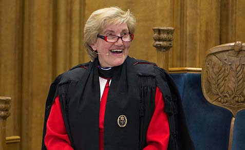 Right Reverend Lorna Hood at the General Assembly of the Church of Scotland.