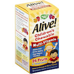 Nature's Way Alive! Children's Multi-Vitamin Chewable 120 Chews
