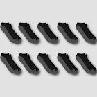 Men's Hanes Premium 10pk Black Low Cut Socks