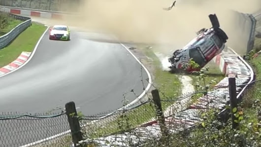 Endurance Porsche crashes spectacularly at the Nürburgring - Autoblog